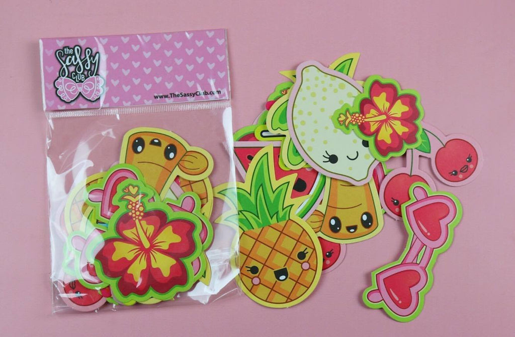 Tutti Fruity - Planner Die Cuts (Retiring) - Clear Stamps by The Sassy Club