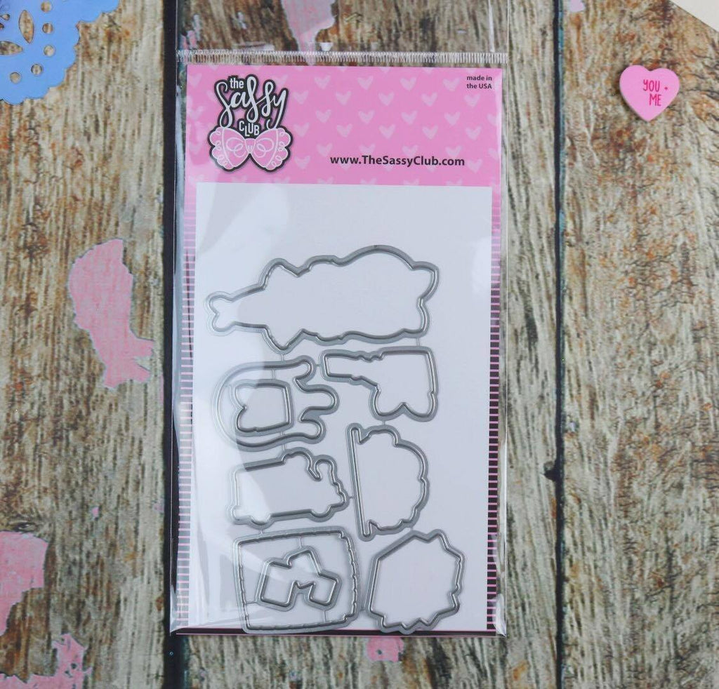 Sassy Mail - Matching Die - Clear Stamps by The Sassy Club