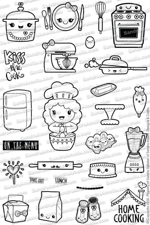 Home Cookin' - Clear Stamps by The Sassy Club
