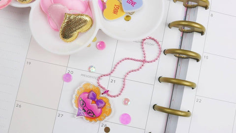"The Sassy Club ""I heart you"" Planner charm"