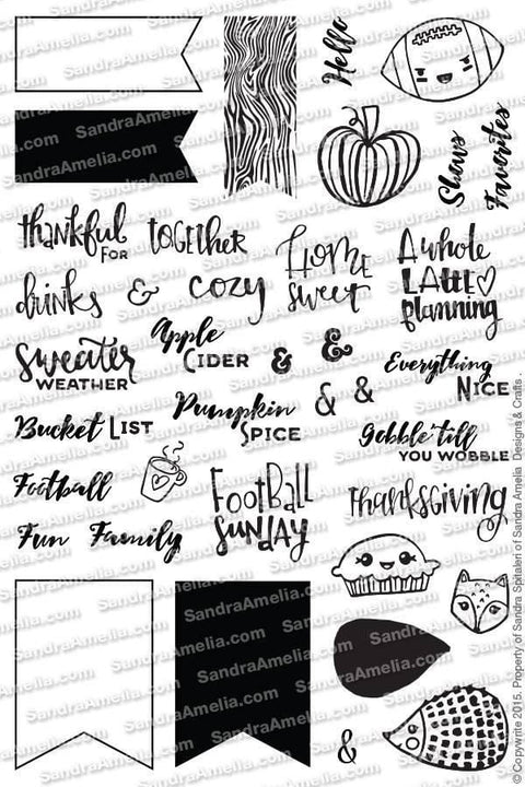 "The Sassy Club Planner Stamps ""A Latte Planning"" - Clear Stamps for Planner"