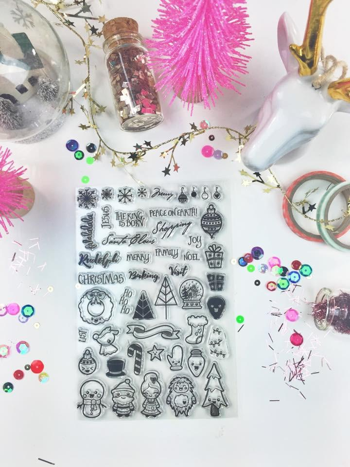 Christmas Doodles - Clear Stamps by The Sassy Club