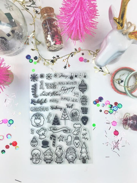 Christmas Doodles Planner Stamps