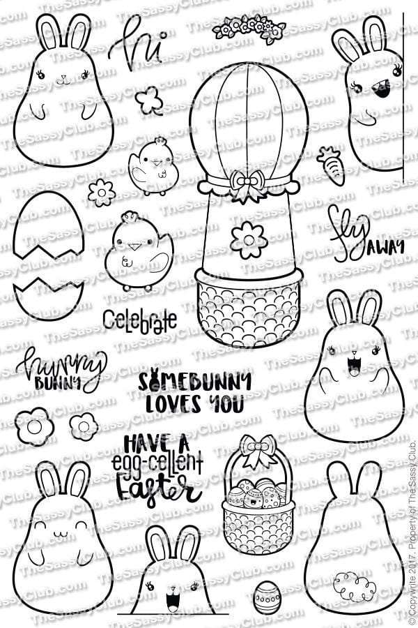 The Sassy Club Planner Stamps Chubby Bunny - Clear Stamps (Ships March 27-28)