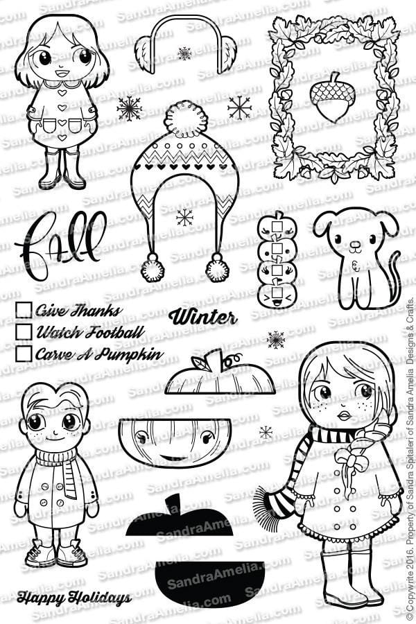 The Sassy Club Planner Stamps Happy Holidays - Clear Stamp Set