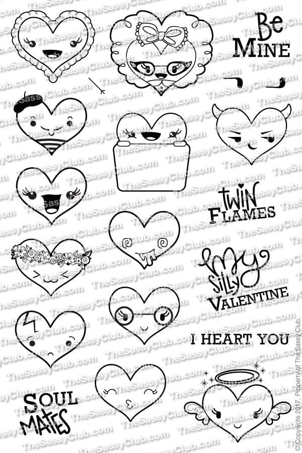I Heart You (Retiring) - Clear Stamps by The Sassy Club