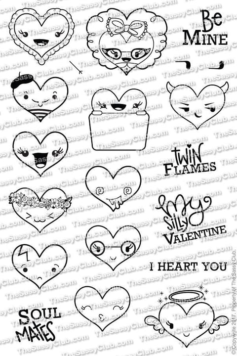The Sassy Club Planner Stamps I Heart You - Clear Stamp Set