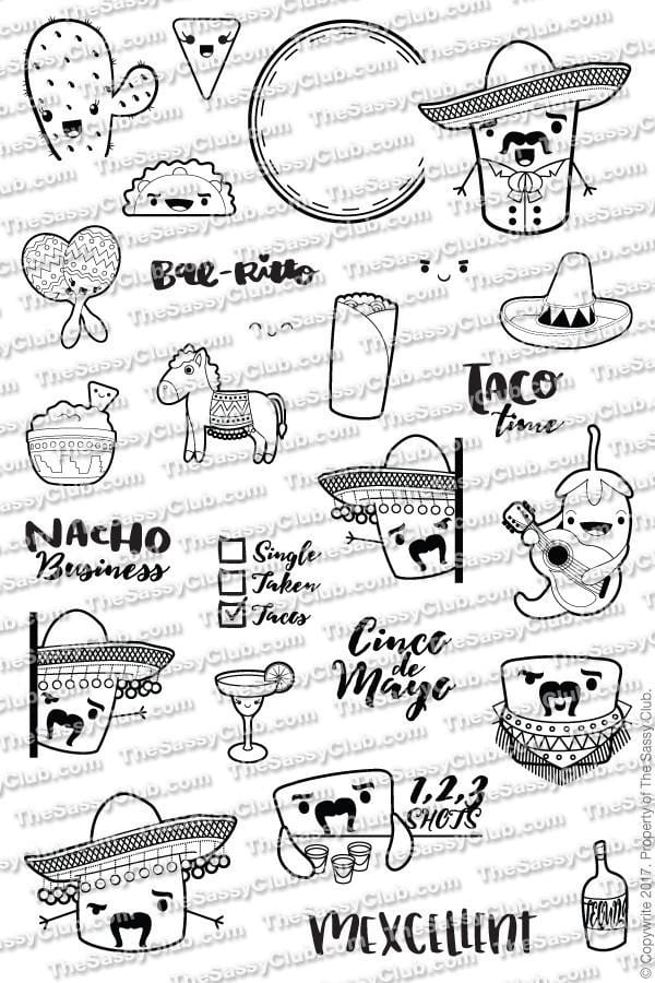 The Sassy Club Planner Stamps José Mellow - Clear Stamp Set