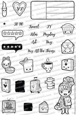 The Sassy Club Planner Stamps Mini Doodles - Planner Stamp Set