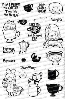 Mug Life - Clear Stamps by The Sassy Club