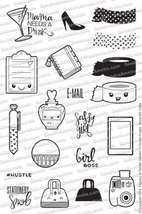 The Sassy Club Planner Stamps Planner Girl - Planner Stamp Set