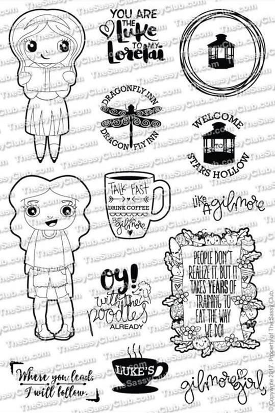 The Sassy Club Planner Stamps Stars Hollow - Clear Stamp Set