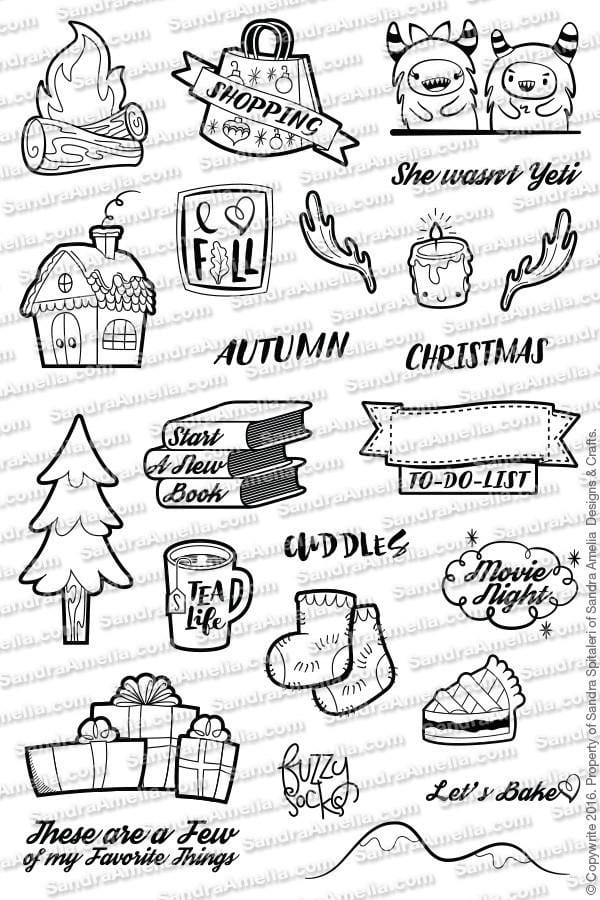 The Sassy Club Planner Stamps Winter Wonderland - Clear Stamp Set