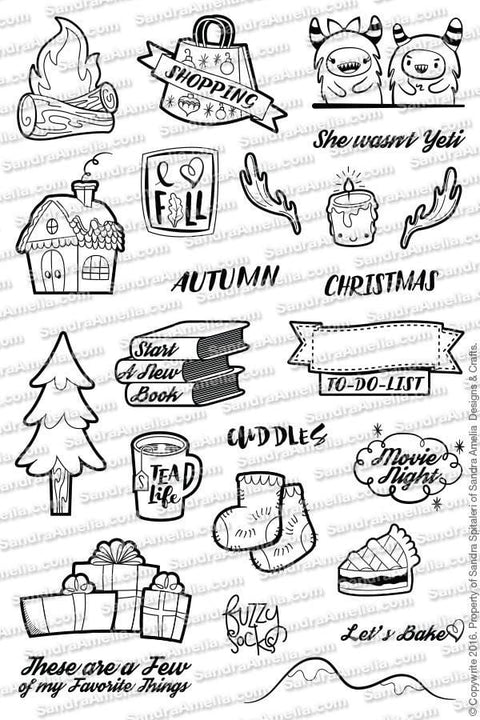 Winter Wonderland Planner Stamps