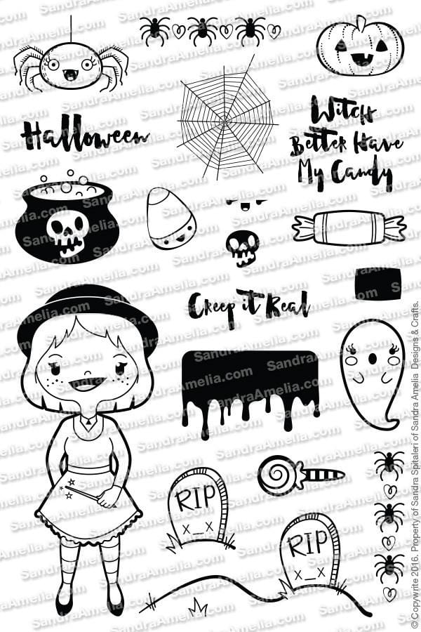The Sassy Club Planner Stamps Witches Brew - Clear Stamp Set