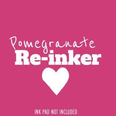 The Sassy Club Re-Inker Pomegranate Re-Inker (Not An InkPad)