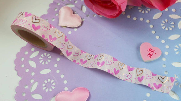 Sassy hearts washi tape - The Sassy Club