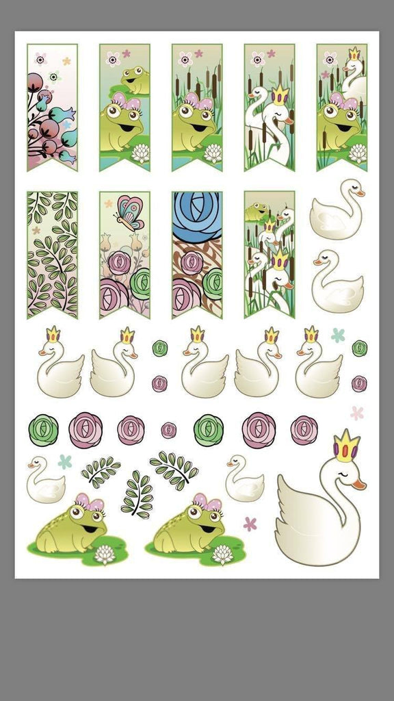 Spring Friends - Planner Stickers (2 Sheets) - Clear Stamps by The Sassy Club