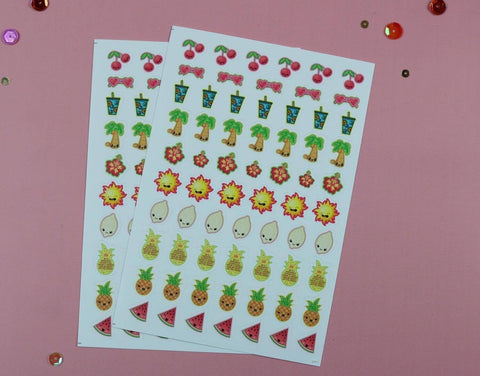 Tutti Fruity Planner Stickers (Retiring) (2 Sheets) - Clear Stamps by The Sassy Club