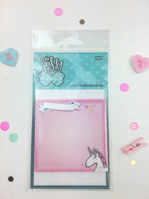 The Sassy Club Sticky Notes Unicorn Sticky Notes