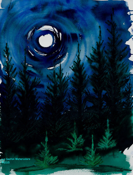 Moonlit Pines