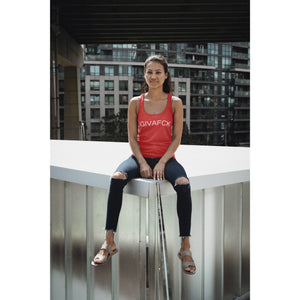 iGIVAFCK Tank. Heather Red. Ladies