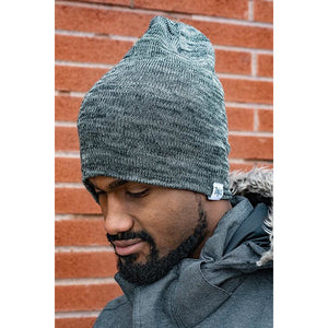 Tenfed Slouchy Toque. Marl Charcoal