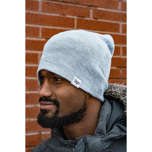 Tenfed slouchy toque. marl grey