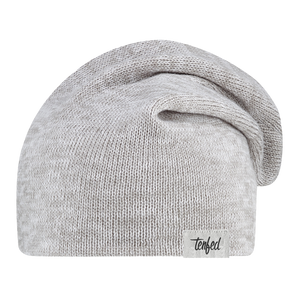 TF slouchy toque. marl grey