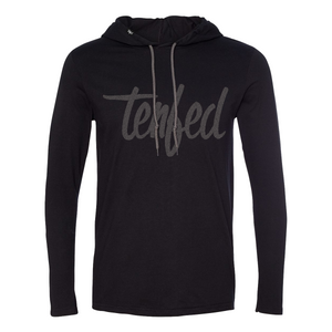 Tenfed athletic hoodie. black. unisex