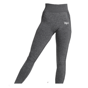 Tenfed seamless leggings. heather grey. ladies