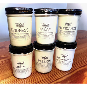 Tenfed Soy Wax Candle 6-pack. FEEDS 60