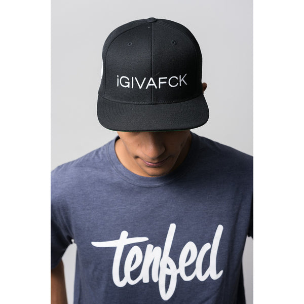 TF iGIVAFCK snapback hat. black
