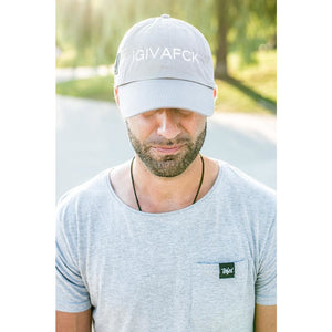 TF iGIVAFCK dad cap. grey