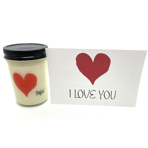 TF Soy Wax LOVE Candle. Cinnamon Hearts