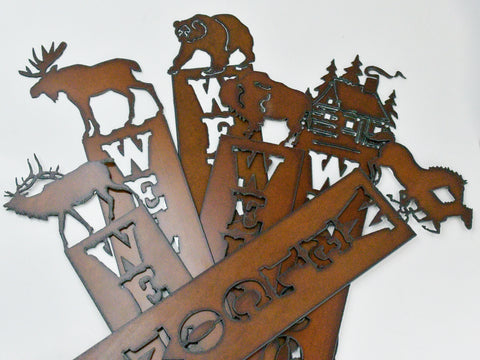 Rusted Iron Welcome Signs