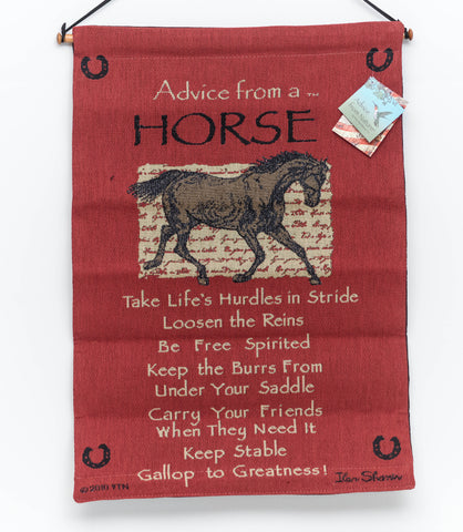 Advice from Animals & Lake Cloth Wall Hangings