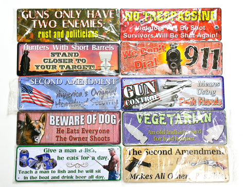 "Tin Signs-Small 10.5""x 3.75"""