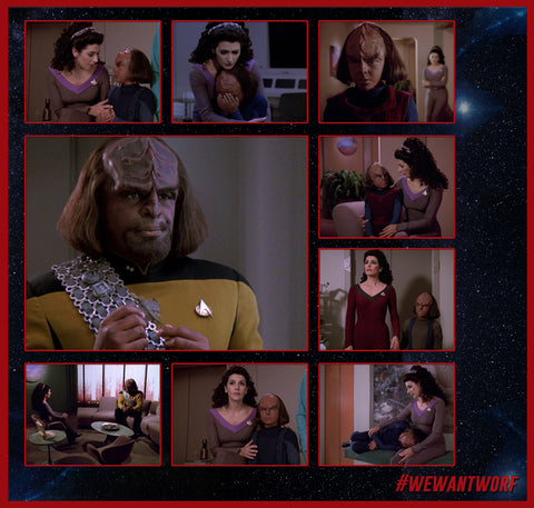 DAD ADVICE IN 3 WORDS STAR TREK TNG WORF SAYS GO SEE TROI