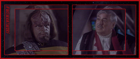 THROW BACK THURSDAY TO WORF AND SCOTTY ON STAR TREK TNG