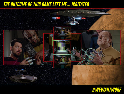 STAR TREK TNG NAME THE GAME AND WIN A FREE WEWANTWORF T-SHIRT
