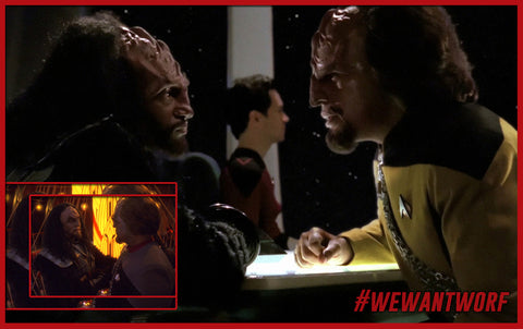 NATIONAL BROTHERS AND SISTERS DAY STAR TREK TNG WORF AND KURN KLINGON BROTHERS