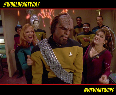 WORLD PARTY DAY STAR TREK TNG WORF HATES PARTIES