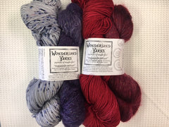 Opposites Attract Shawl Kit from Wonderland Yarns