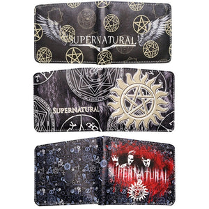 Supernatural Series PU Leather Short Wallet