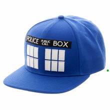 Load image into Gallery viewer, Doctor Who Tardis Blue Adjustable Snapback Hat