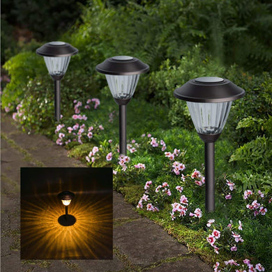 6 Pcs Solar Powered Path Lights
