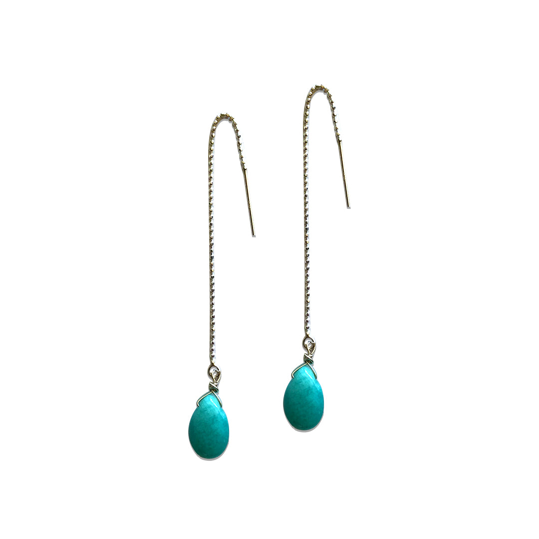 Amazonite Thread Earrings