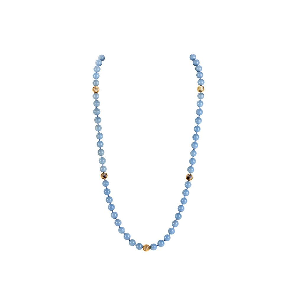 Ava Knotted Strand Necklace