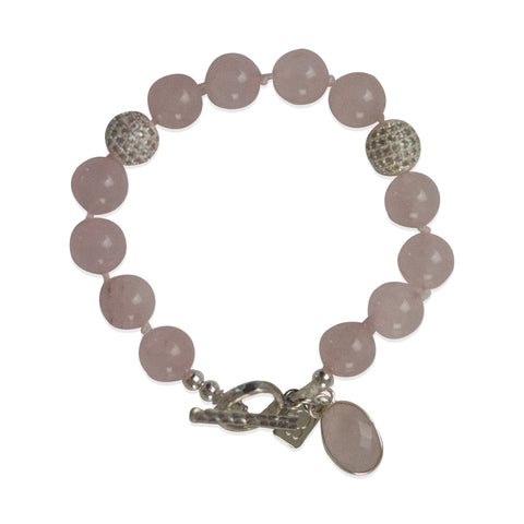 Rose Quartz Single Wrap Bracelet